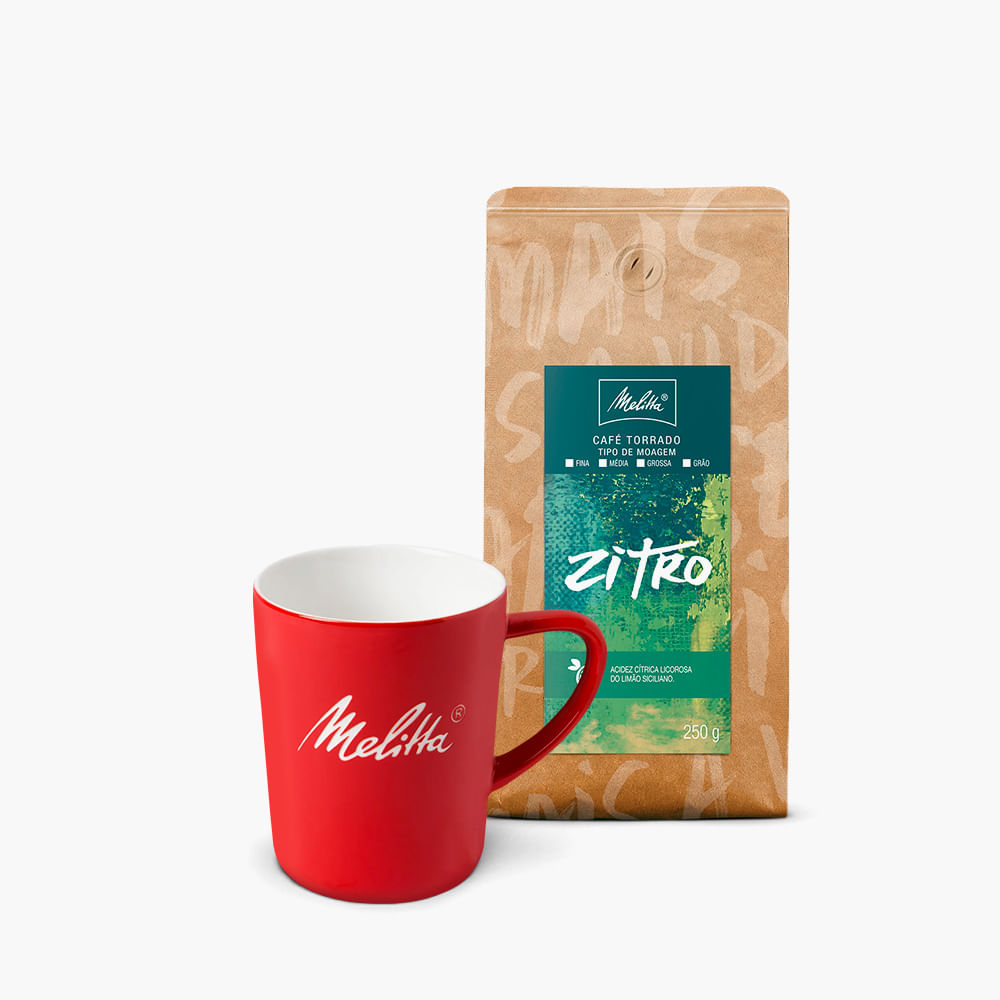 Kit-Caneca-Vermelha---Cafe-Zitro-Melitta-250g---Moagem-Media